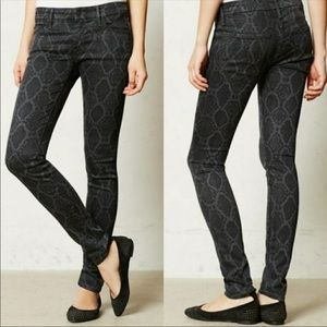 NWT MOTHER The Looker Snake Print Skinny Jeans 32